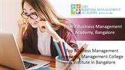 MBA Colleges in Bangalore & MBA Institutes in Bangalore