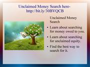 Unclaimed Money Search eBook