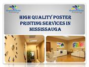 High Quality Poster Printing Services in Mississauga