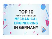 Top 10 Universities in Germany to pursue Master's in Mechanical Engine