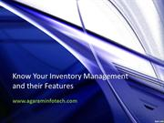 Know your Inventory Management and their Features - Agaram InfoTech