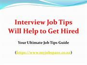 Job Interview Tips for Getting a Dream Job