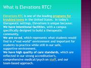 What is Elevations RTC?