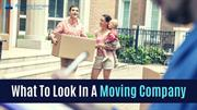 What To Look In A Moving Company