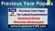 Previous Year Paper for Latest Examination