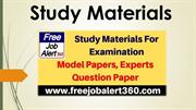 Study Materials For Examination - Model Papers, Experts Question Paper