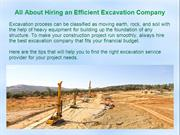 Tips to Hire the Right Excavation Company for Excavation Project