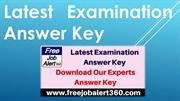 Latest Examination Answer Key - Our Experts Answer Key