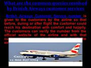 British Airways customer services