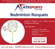 50% Discount for Babolat Badminton Racquets at Toronto, Mississauga