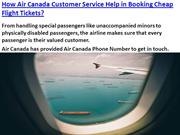 How Air Canada Customer Service Help in Booking Cheap Flight Tickets