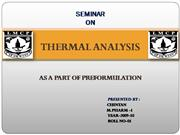 8. THERMAL ANALYSIS