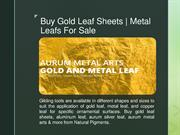 Gold Leaf Sheets | Metal Leafs For Sale | Natural Pigments