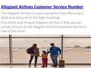 Allegiant Airlines Customer Service Number