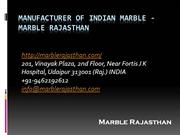 Manufacturer of Indian Marble - Marble Rajasthan