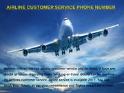 Airlines Customer Services Phone Number