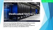 Guidelines for Picking A Best Dedicated Server Provider