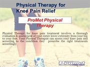 Physical Therapy Treatment for Knee Pain Relief - ProMet