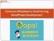 Common Mistakes to Avoid during WordPress Development