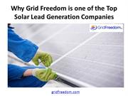 Why Grid Freedom is one of the Top Solar Lead Generation Companies