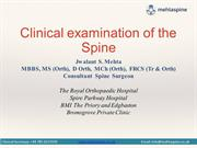 Clinical examination of the  Spine by Jwalant Mehta