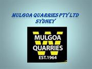 Civil Engineering Services in Sydney - Mulgoa Quarries