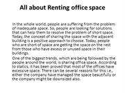 All about Renting office space
