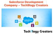 Salesforce Development Company - Tech9logy Creators