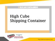High Cube Shipping Container - Pelican Containers