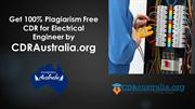 Get 100% Plagiarism Free CDR for Electrical Engineer Australia