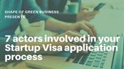7 actors involved in your Startup Visa application process