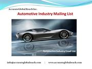Automotive Industry Mailing List