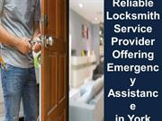 Reliable Locksmith Service Provider Offering Emergency Assistance in Y