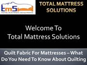 Fabric For Mattresses