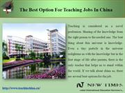 The best option for teaching jobs in china