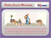 Packing Services Mississauga