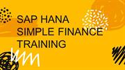 SAP Hana Simple Finance Online Training | IQ Online Training