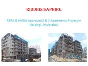 RERA Approved 2 & 3 BHK Flats for sale in Narsingi, Hyderabad
