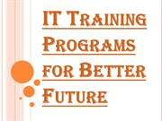 The Importance of IT Training Programs in your Growing Career