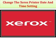 Change The Xerox Printer Date And Time Setting