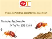 What is the AVERAGE  cost of termite inspection