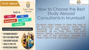 How to Choose the Best Study Abroad Consultants in Mumbai?