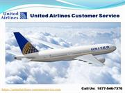1877-546-7370 United Airlines Customer Service
