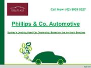 Buy used car for sale in Sydney |Phillips & Co. Automotive