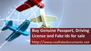 Buy Genuine Passport, Driving License and Fake ids for sale