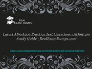 AD0-E300 Practice Test Dumps