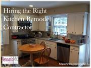 Hiring the Right Kitchen Remodel Contractor