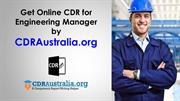 CDR for Engineering Manager Australia