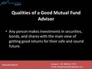 Qualities of a Good Mutual Fund Advisor