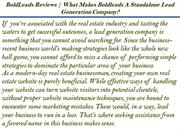 What Makes Boldleads A Standalone Lead Generation Company?